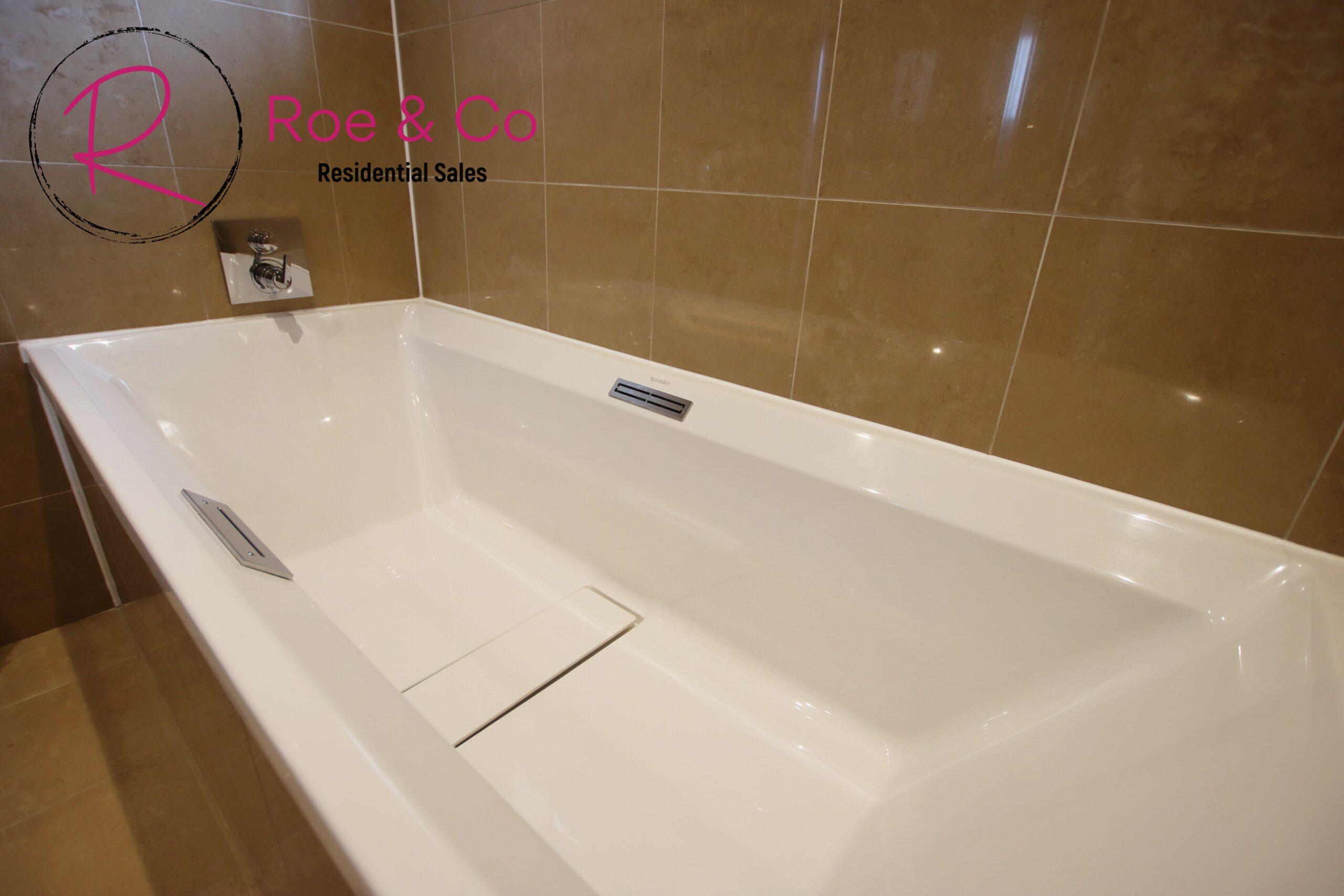 Bath in the master bathroom